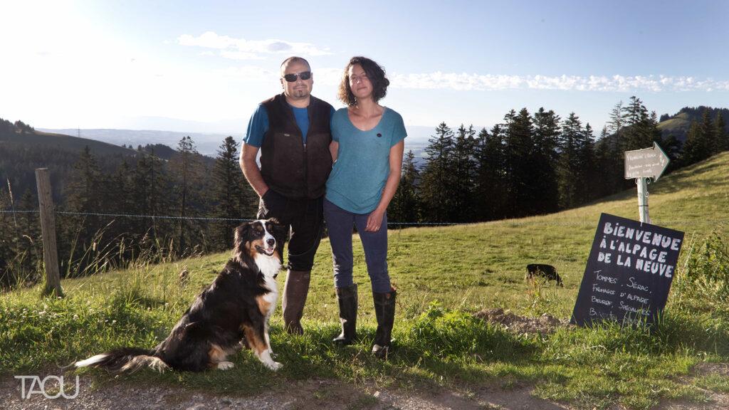 Alpage de La Neuve, Pauline Chavot et Olivier Corthay